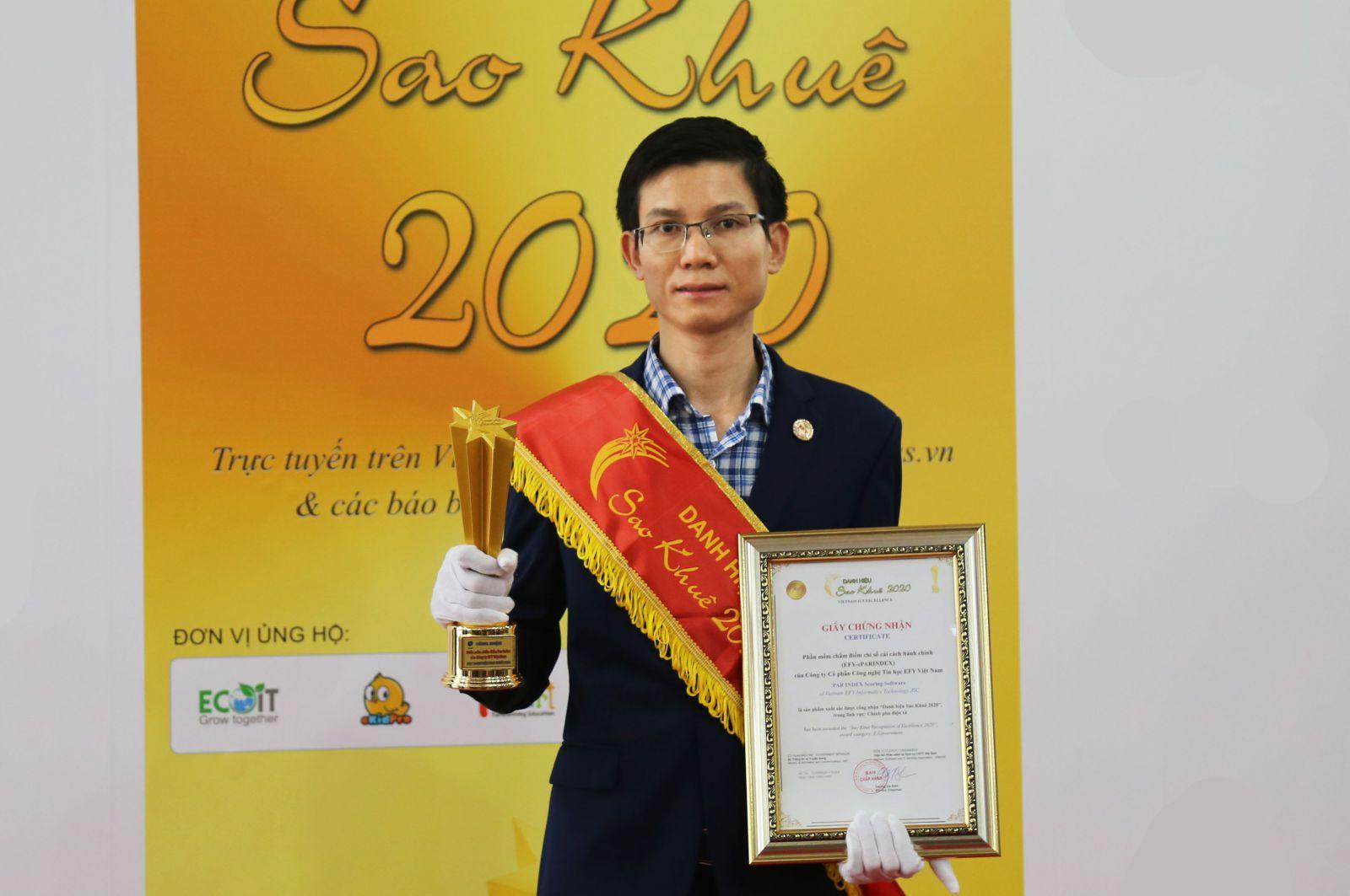 EFY Việt Nam nhận giải thưởng Sao Khuê 2020