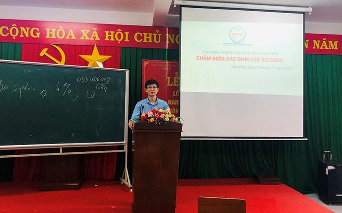 Tập huấn phần mềm Chấm điểm cải cách hành chính (EFY-ePARINDEX) tại tỉnh Đắk Nông