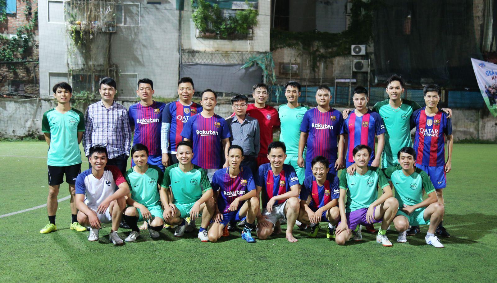 EFY 11Years: FC EFY Việt Nam giao hữu bóng đá cùng FC Tổng Cục Thuế - ảnh 1