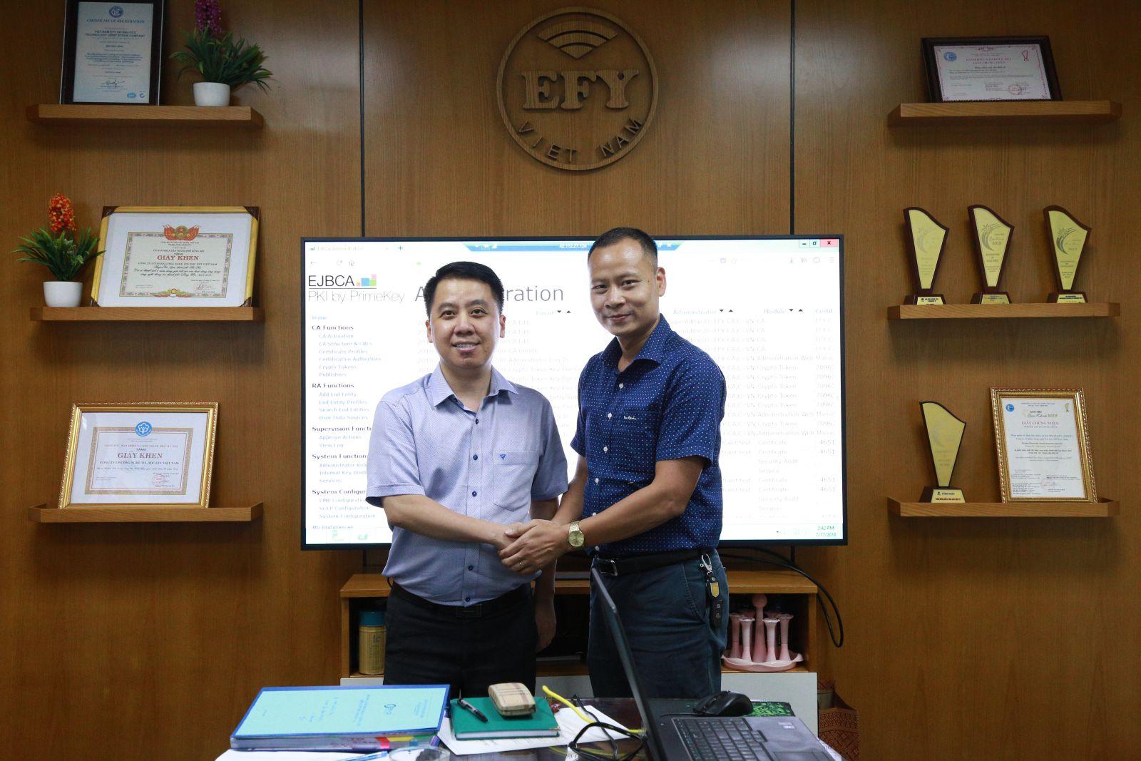 EFY Việt Nam trở thành nhà cung cấp dịch vụ chứng thực chữ ký số công cộng