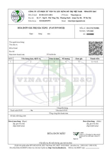 Mẫu hóa đơn điện tử i-hoadon