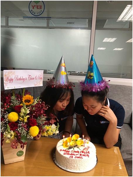 EFY Việt Nam tổ chức sinh nhật tháng 7 cho nhân viên VP Miền Nam