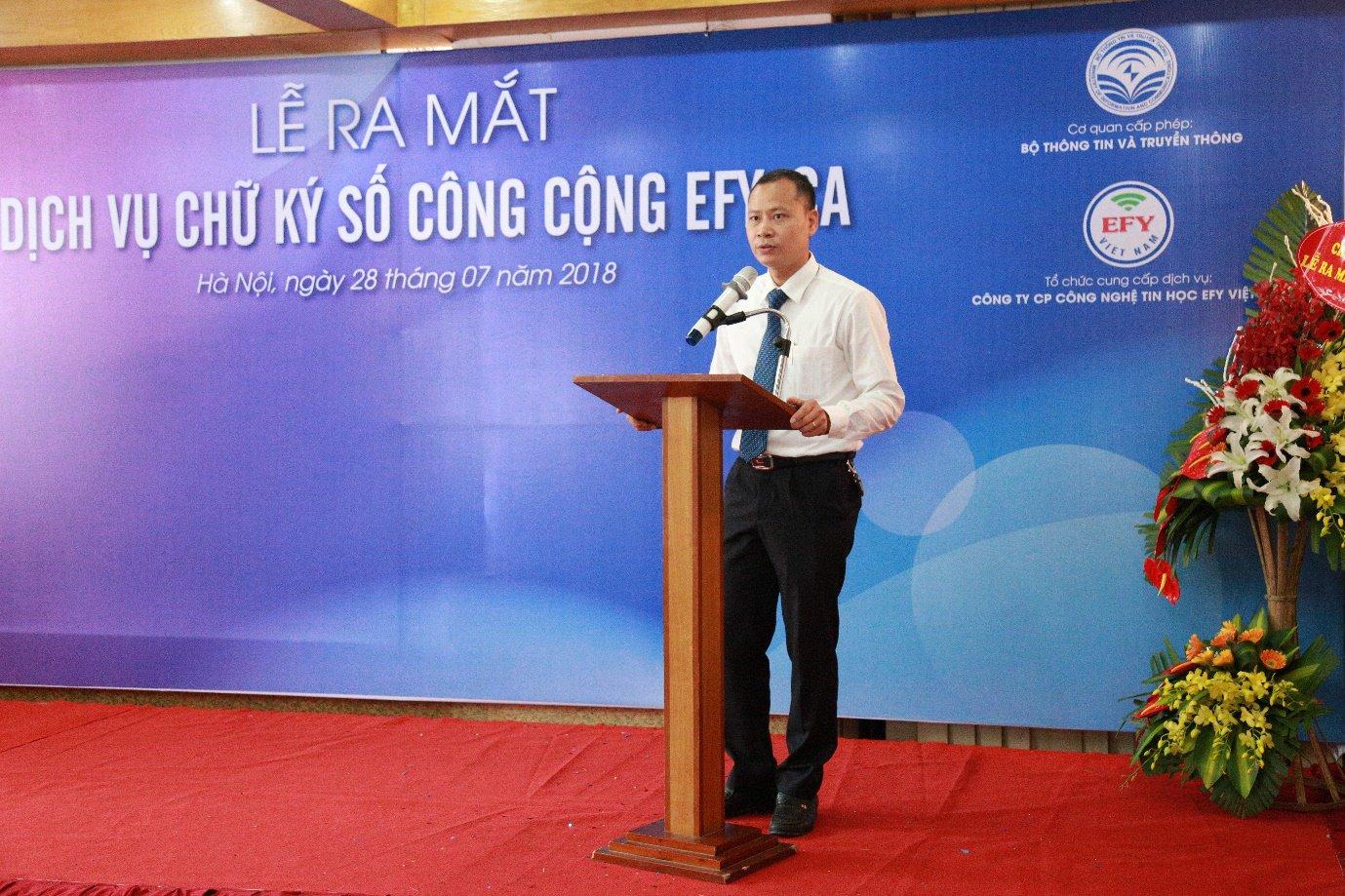 EFY Việt Nam ra mắt dịch vụ chữ ký số công cộng