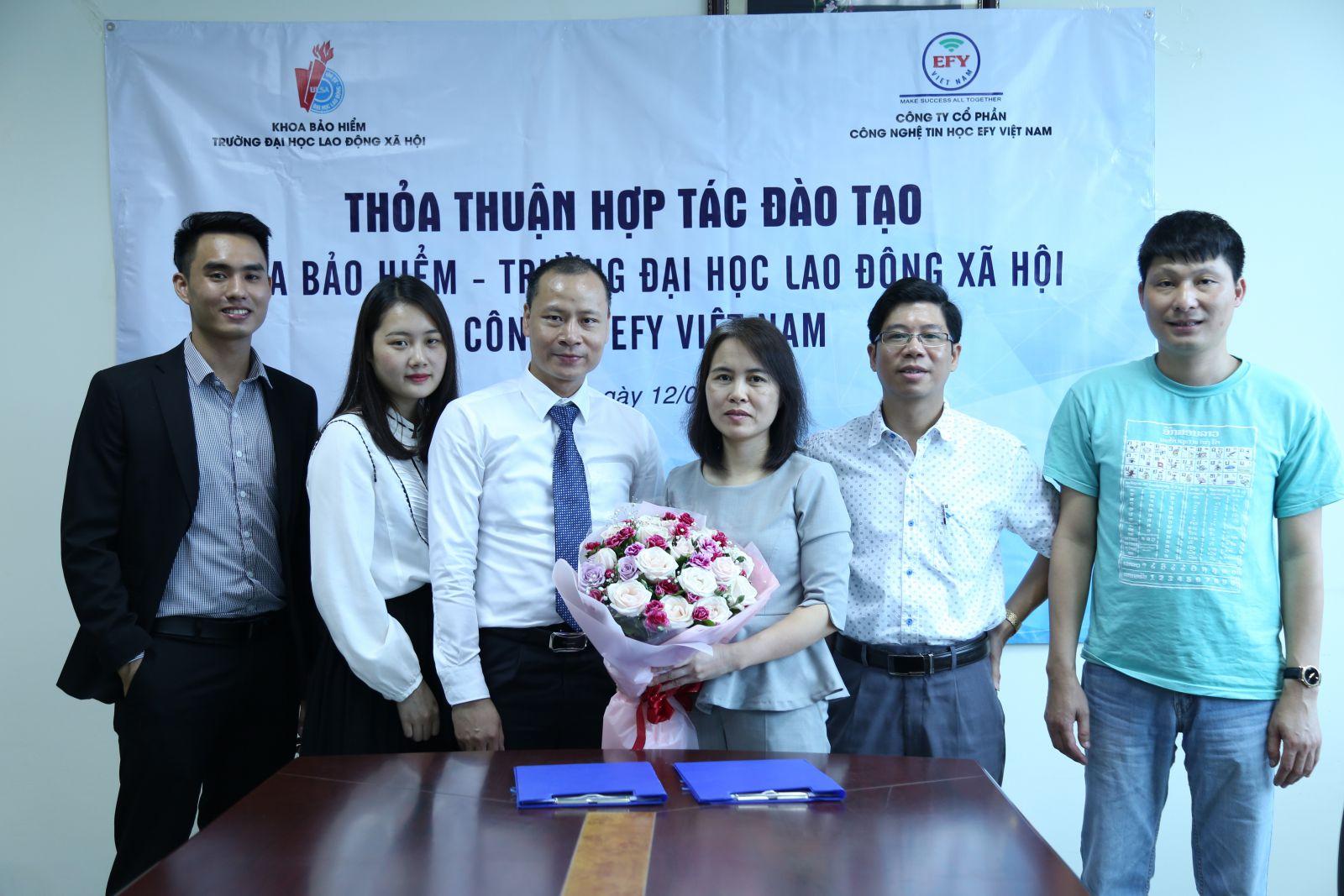 EFY Việt Nam ký kết hợp tác đào tạo với Khoa bảo hiểm – Trường đại học Lao động xã hội