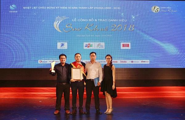 EFY Việt Nam đón nhận danh hiệu Sao Khuê 2018 cho phần mềm EFY-iHOADON