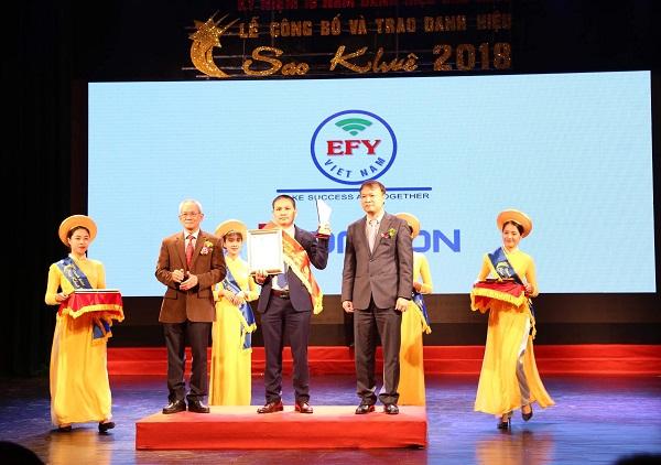 EFY Việt Nam nhận danh hiệu Sao khuê 2018